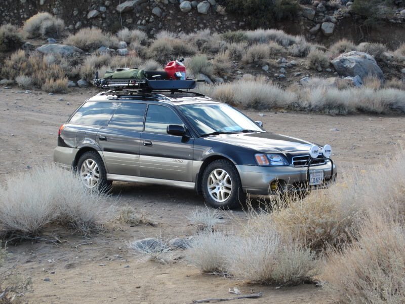2001 Subaru Outback on Hunter Mountain Road